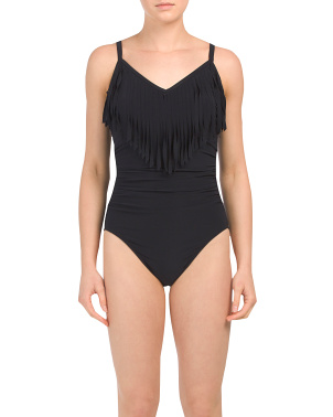 Made In Colombia Fringed One-piece Swimsuit