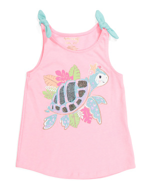 Girls Tie Strap Fashion Tank