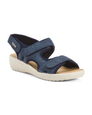Made In Italy Sport Sandals With Velcro