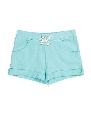 Girls French Terry Roll Cuff Shorts