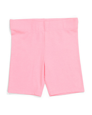 Girls Solid Knit Bike Shorts