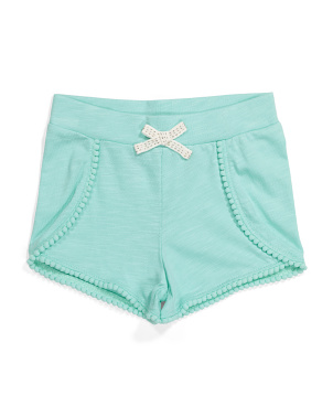 Girls Jersey Slub Shorts