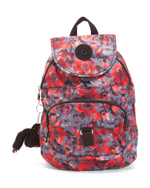 Queenie Nylon Multi Pocket Small Flap Backpack