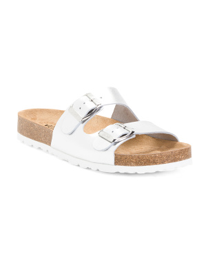 Made In Spain Two Band Leather Sandals