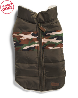 Camo Stripe Dog Jacket
