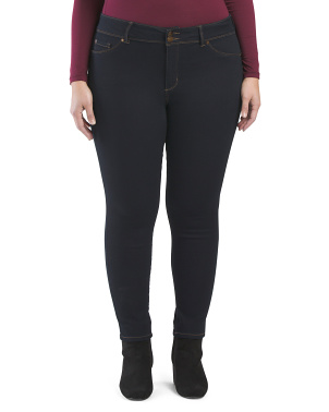 Plus 2 Button Booty Lifting Skinny Jeans