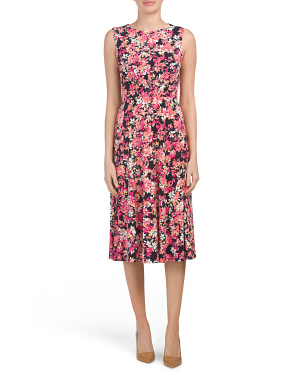 Blossom Bunch Printed Jersey Midi Dress