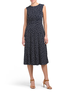 Happy Dot Printed Jersey Midi Dress