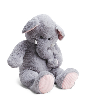 44in Elephant With Baby Plush Animal