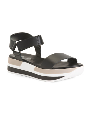 Made In Italy Sport Bottom Leather Sandals