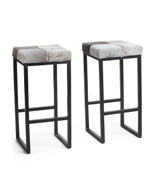 Set Of 2 Haircalf Barstools