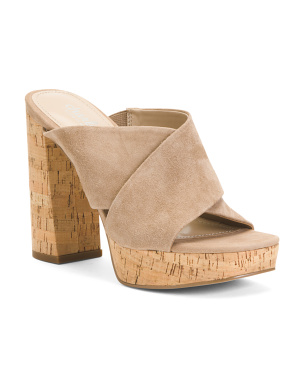 Platform Bottom Suede Sandals