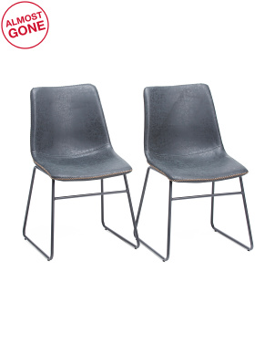Set Of 2 Cal Dining Chairs