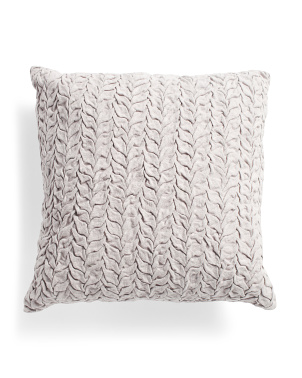 20x20 Cotton Washed Hand Smocked Pillow