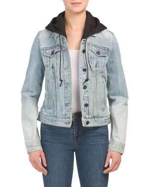 Casual Encounter Denim Jacket With Detachable Hood