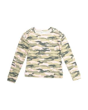 Big Girls Camo Active Top