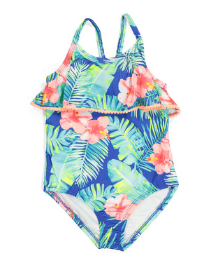 Little Girls Tropical One-piece Swimsuit