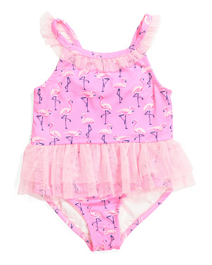 Little Girls Flamingo One-piece Swimsuit