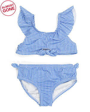 Little Girls 2pc Gingham Swimsuit