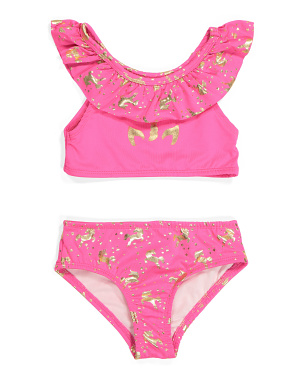 Little Girls 2pc Foil Swimsuit