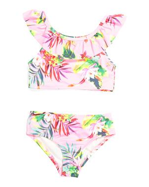 Little Girls 2pc Tropical Swimsuit