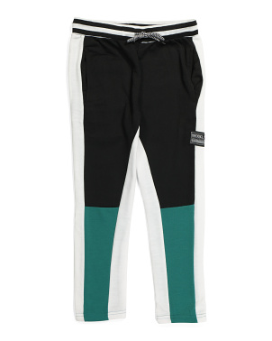 Big Boys Color Block French Terry Joggers