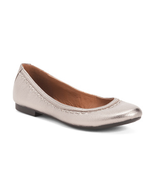 Leather Stitch Ballet Flats