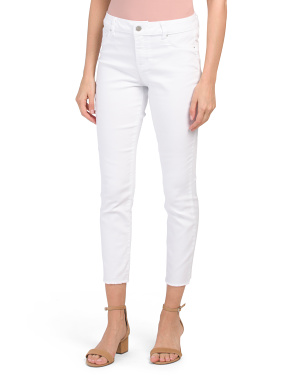 High Waist Fray Hem Skinny Jeans