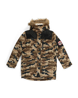 Big Boys Camo Parka