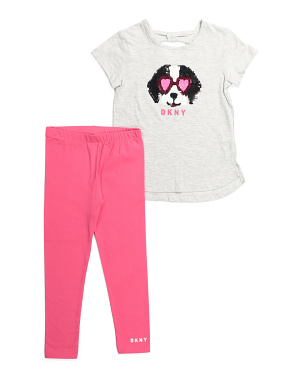Little Girls 2pc Flip Sequin Legging Set