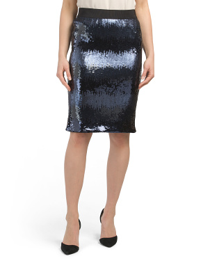 Ombre Sequin Pencil Skirt