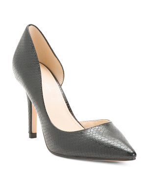 Pointy Toe Snake D'orsay Pumps