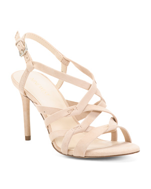 Suede Strappy Dress Heel Sandals