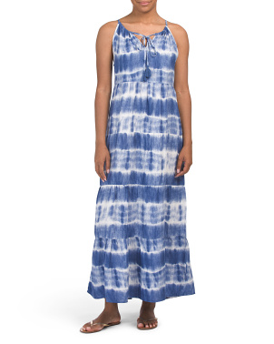 Long Tie Dye Cover-up Maxi Dress