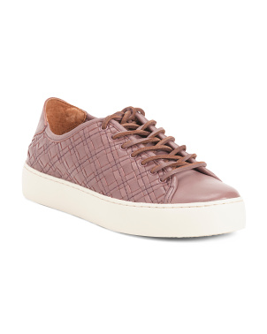 Leather Woven Fashion Sneakers