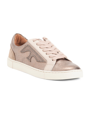Logo Patch Leather Sneakers