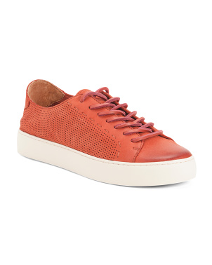 Perforated Suede Fashion Sneakers