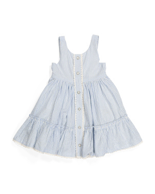 Toddler Girl Seersucker Tie Back Dress