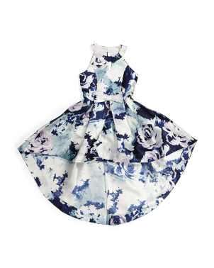 Big Girls Floral Hi-lo Special Occasion Dress