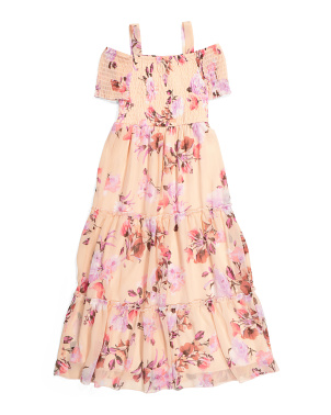Big Girls Floral Peasant Dress