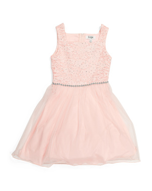 Big Girls Glitter Lace Dress