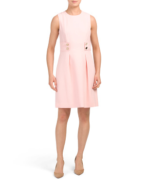 Anne Crepe Fit And Flare Dress