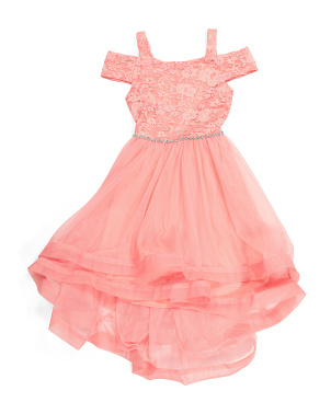 Big Girls Lace Hi-lo Party Dress