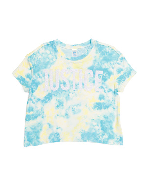 Girls Tie Dye Cropped Tee