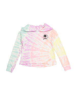 Girls Tie Dye Permanent Vacation Hoodie