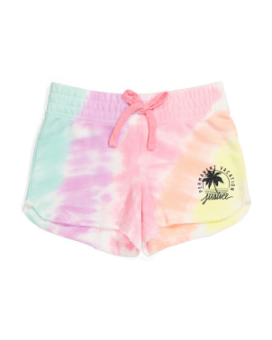Girls Tie Dye Permanent Vacation Shorts