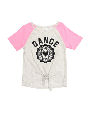 Girls Tie Front Dance Top