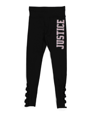 Girls Cropped Graphic Leggings