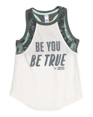 Girls Be You Be True Tank