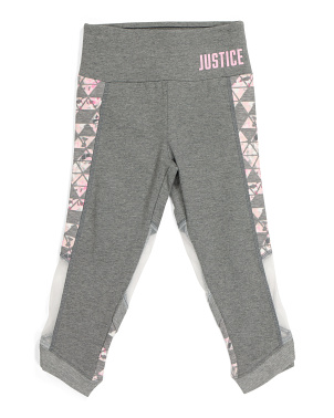 Girls Mesh Fashion Capris